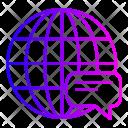 Chat Call Globel Icon