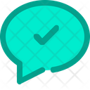 Chat Comment Check Icon