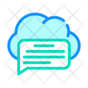 Messaging Cloud Storage Icon