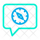 Chat Compass Icon