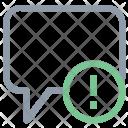 Chat Error Bubble Icon