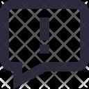 Chat Error Warning Icon