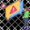 Chat Warning Chat Error Messaging Error Icon
