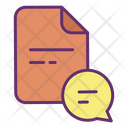 Chat Chat File Chat Document Icon