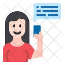 Chat Girl Girl Communication Icon