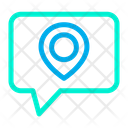 Location Pin Chat Bubble Chat Icon