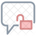Chat Lock Padlock Icon