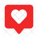 Chat Love Love Heart Icon