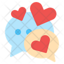 Chat Love Heart Love Icon