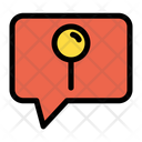 Location Pin Favorite Place Chat Bubble Icon
