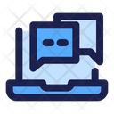 Chat Services Laptop Interaction Icon
