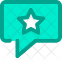 Chat Comment Star Icon