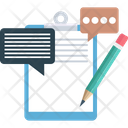 Chat Support Clipboard Customer Service Icon