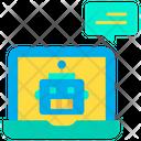 Laptop Chatbot Bot Icon