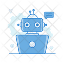 Chatbot Robot Bionic Man Icon