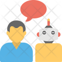 Chatbot Concept Talkboat Icon