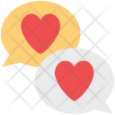 Chat Bubbles Lovers Icon