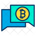 Chat Bubble Financial Chatting Bitcoin Chatting Icon