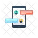 Chatting Online Mobile Icon