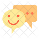 Happy Chat Chat Chatting Icon