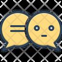 Speech Bubbles Talk Gossip Icon