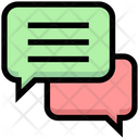 Business Financial Chatting Icon