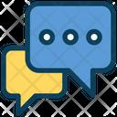 Chatting Bubbles Talk Icon