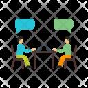 Chatting Human Activity Icon