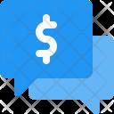 Chatting Talk Money Icon