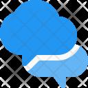 Chatting Cloud Bubbles Icon