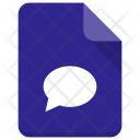 Chatting File Chat Icon