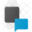 Chatting In Watch Icon