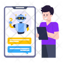 Mobile Robot Chatting Robot Robotic Discussion Icon