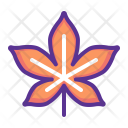 Cheastnut leaf Icon