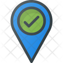 Check Pin Geolocation Icon
