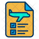 Flight Ticket Check Ticket Approved Flight Ticket Icon