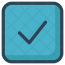 Square Tick Approved Icon