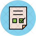 Check Mark Sheet Icon