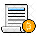 Check Balance Bitcoin Sheet Financial Sheet Icon