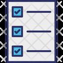 Check Box Checkmark Mc Quiz Icon