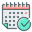 Schedule Planning Event Calendar Icon