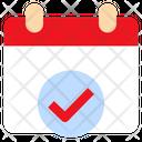 Check Agenda Calendar Icon