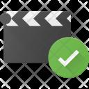 Clapper Check Clip Icon