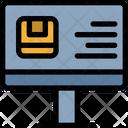 Delivery Check Computer Icon
