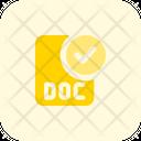 Check Doc File Txt File Approve Doc File Icon