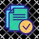 Document Contour Office Icon