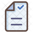 Check Document Approve Document Verified Document Icon