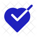 Check Heart Check Heart Icon