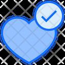 Check Heart Heart Love Icon