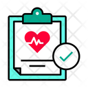 Approve Check Heart Report Approve Heart Report Icon